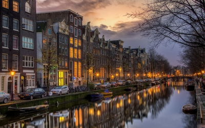 Sunset light in Amsterdam Wallpaper