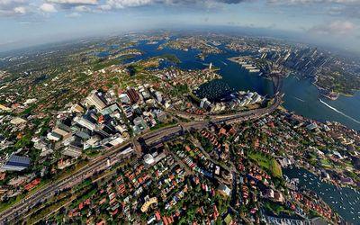 Sydney aerial view wallpaper
