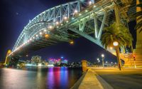 Sydney Harbour Bridge at night wallpaper 2560x1440 jpg