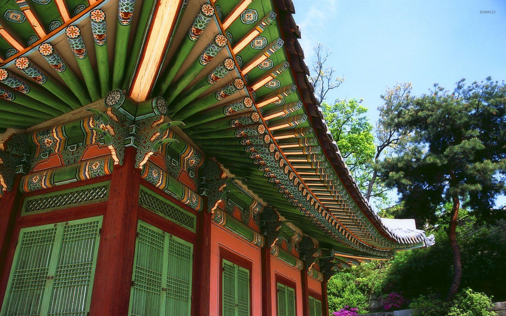 Temple In Seoraksan National Park South Korea Wallpaper