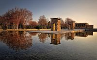 Temple of Debod at sunset wallpaper 2560x1600 jpg