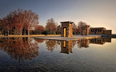 Temple of Debod at sunset wallpaper