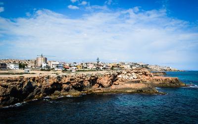 The coast of Cala de la Higuera wallpaper