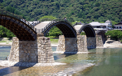 The Kintai Bridge wallpaper