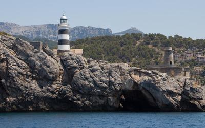 The lighthouse of Port de Soller wallpaper