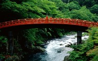 The Sacred Bridge of Futarasan Shrine wallpaper 1920x1200 jpg