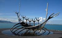 The sun craft boat sculpture wallpaper 2880x1800 jpg