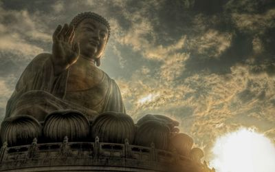 Tian Tan Buddha in Hong Kong wallpaper