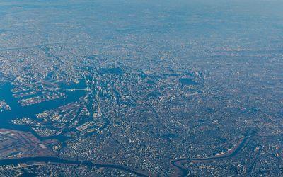 Tokyo aerial view wallpaper