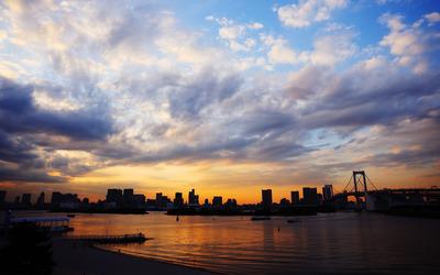 Tokyo sunset wallpaper