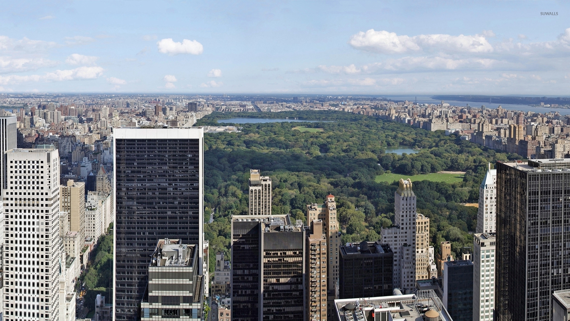 Top View Of Central Park In New York City Wallpaper