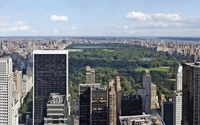 Top view of Central Park in New York City wallpaper 1920x1080 jpg