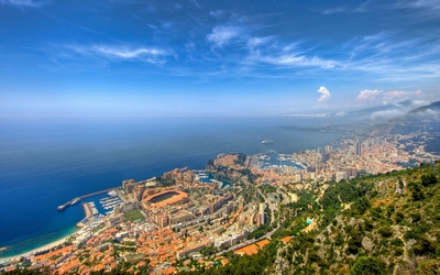 Top view of Monte Carlo wallpaper