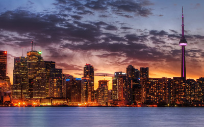 Toronto skyline wallpaper