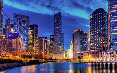 Trumt tower, Chicago wallpaper