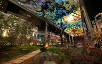 Urban art in a city garden wallpaper 2560x1600 jpg