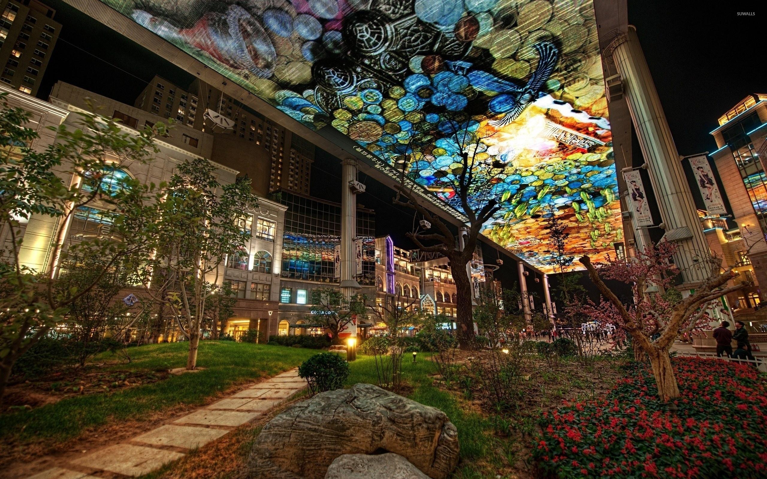 urban art in a city garden wallpaper world wallpapers