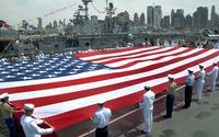 USA flag in Intrepid Sea, Air & Space Museum wallpaper 1920x1200 jpg