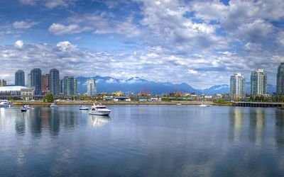 Vancouver harbour wallpaper
