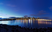 Vancouver lights reflected in the water wallpaper 2560x1600 jpg