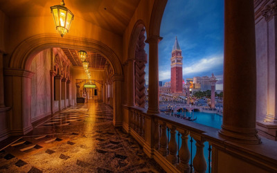 Venetian balcony wallpaper