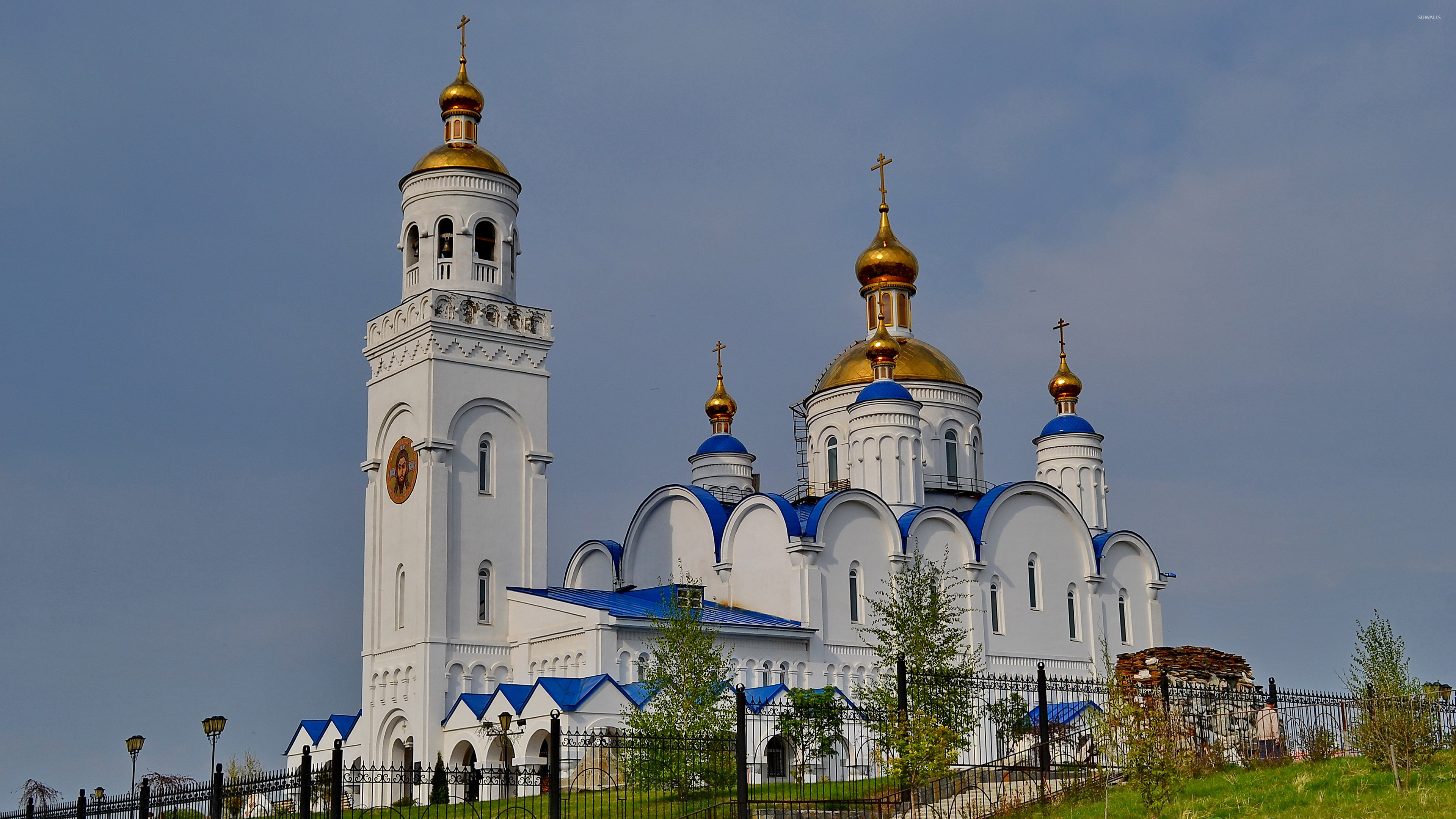 White And Blue Orthodox Church Wallpaper World Wallpapers