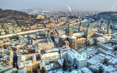 Winter in Salzburg wallpaper