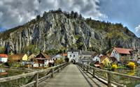 Wooden bridge in Essing wallpaper 2880x1800 jpg