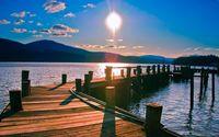 Wooden pier to the lake [2] wallpaper 1920x1080 jpg