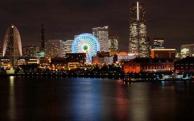 Yokohama at night wallpaper